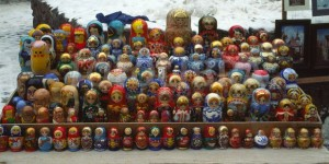 Russian dolls on sale in Riga Latvia